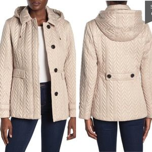 Kate Spade quilted moto jacket